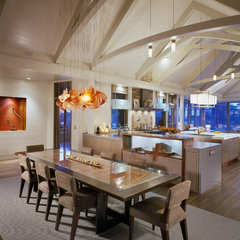 contemporary dining room by Interiors Studio Martha's Vineyard