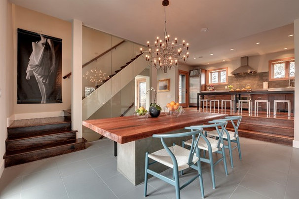Contemporary Dining Room by Spacecrafting / Architectural Photography
