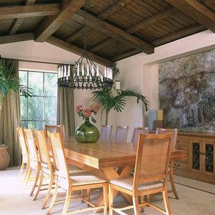 Inspiration för exotiska matplatser, med vita väggar