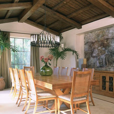 Tropical Dining Room by mark cutler