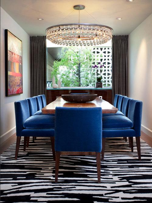 Houzz long narrow room dining room design ideas for Narrow dining room ideas
