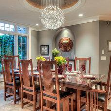 Contemporary Dining Room by Okanagan Dream Builders Ltd.