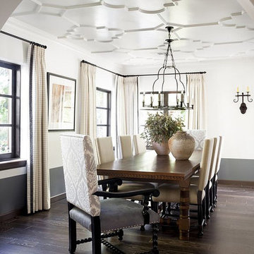 Mission Revival Style Living Room Drapes