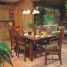 Craftsman Dining Room by Schrocks of Walnut Creek
