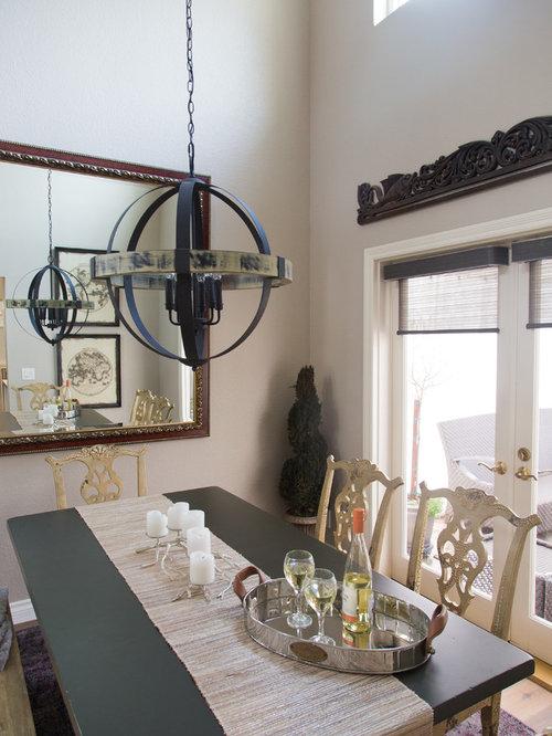 ide de dcoration pour une petite salle manger style shabby chic ferme avec un mur