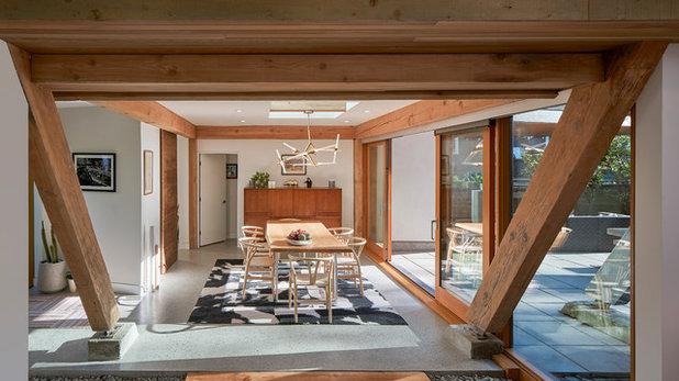 Midcentury Dining Room by Lanefab Design/Build