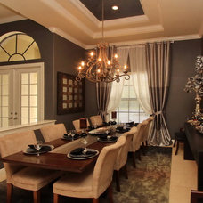 Traditional Dining Room by cruz interiors inc
