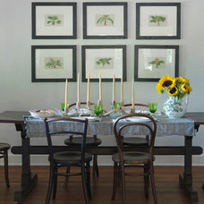 Farmhouse Dining Room by Nat Rea Photography