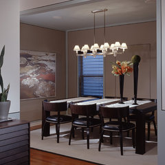 modern dining room by MJ Lanphier