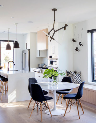 Contemporary Dining Room by Hazel and Brown Design Company
