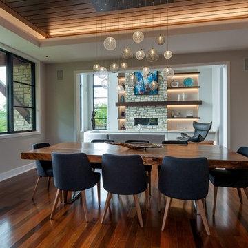 MOD   Custom Blown Glass Dining Room Multi-Pendant Chandelier   Modern Lighting