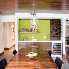 eclectic dining room by Capoferro Design Build Group
