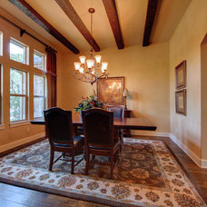 Mediterranean Dining Room by Jeff Watson Homes, Inc.