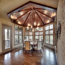 Rustic Dining Room by Carpet Direct Kansas City