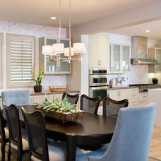Transitional Dining Room by Avalon Shutters, Inc.