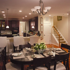 Transitional Dining Room by Shea Homes Charlotte
