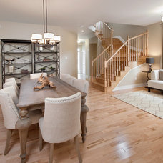 Transitional Dining Room by Tartan Homes