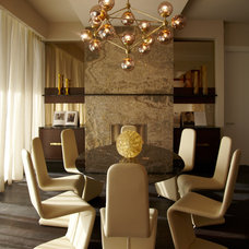 Eclectic Dining Room by b+g design inc.