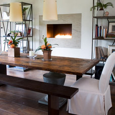Transitional Dining Room by Robin McGarry Interior Design