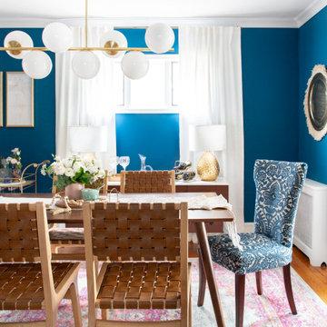 Modern Bohemian Tudor   Dining Room