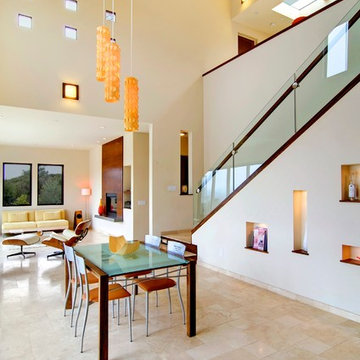 Modern Contemporary Dining Room & Staircase