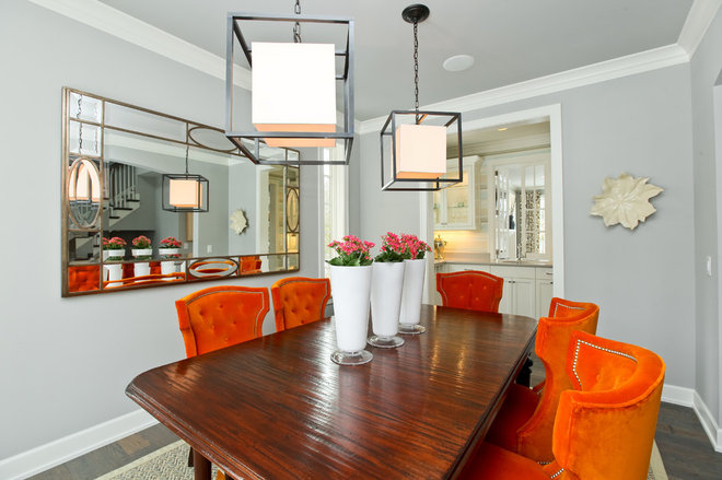 Contemporary Dining Room by REFINED LLC