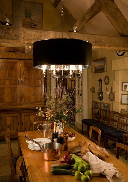Eclectic Dining Room Modern cottage kitchen
