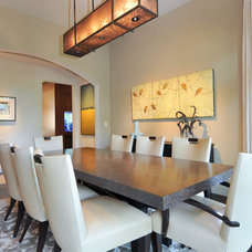 Transitional Dining Room by Alison Whittaker Design, Inc.