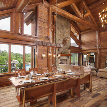 Modern Day Log Cabin - The Bowling Green Residence - Dining Room