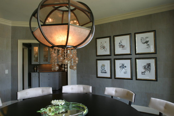 Transitional Dining Room by Fowler Interiors