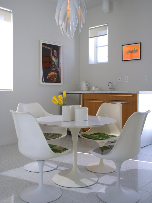 Dining Room   Modern Dining Room Idea In Miami With White Walls