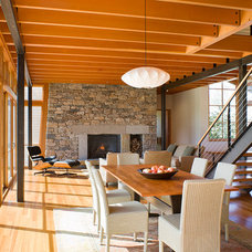 Modern Dining Room by Estes/Twombly Architects, Inc.