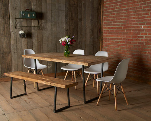 Minimalist dining room photo in Chicago - Modern Reclaimed Wood Furniture Houzz