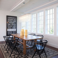 Transitional Dining Room by Murphy & Co. Design