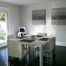 Contemporary Dining Room by Toni Sabatino