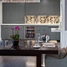 Transitional Dining Room by Toni Sabatino