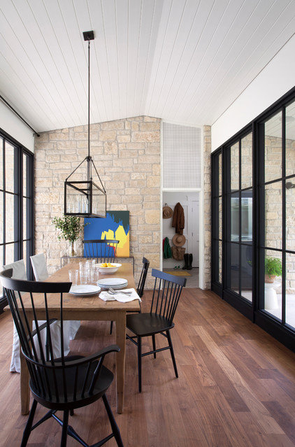 Farmhouse Dining Room by Tim Cuppett Architects