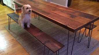 Modern Farm Table and Benches