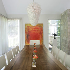 Contemporary Dining Room by Bruce D. Nagel Architect