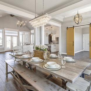 Modern Farmhouse Ideas | Open Concept Dining Room Inspiration | Barn Doors