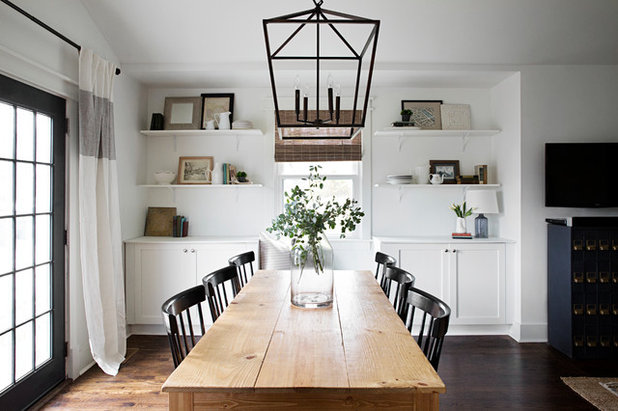 Transitional Dining Room by Peach and Pine Home