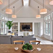 Farmhouse Dining Room by Redbud Custom Homes