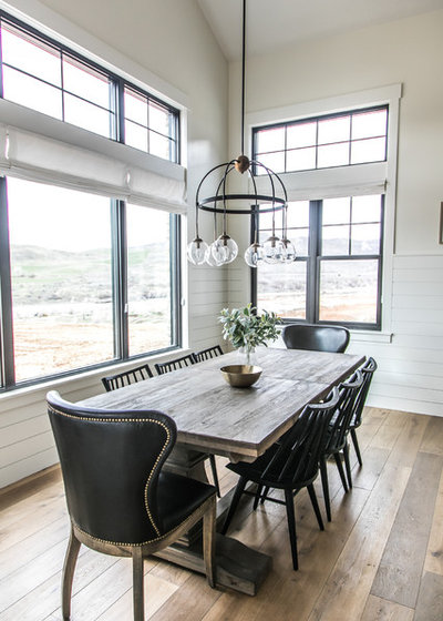 Houzz Tour Black White And Wood In A New Modern Farmhouse