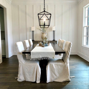 Modern farmhouse vacant dining room home staging and interior design by Anew Hom