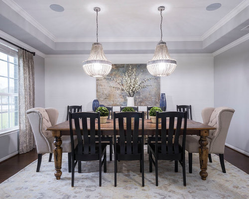 Inspiration For A Timeless Dark Wood Floor And Brown Floor Enclosed Dining  Room Remodel In Houston Part 52