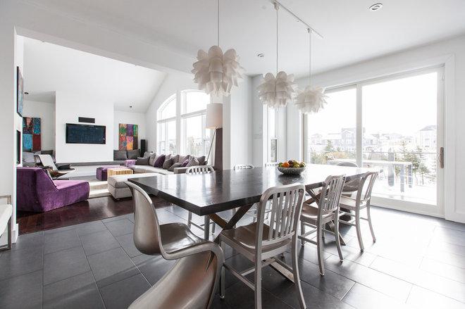 Contemporary Dining Room by Becki Peckham