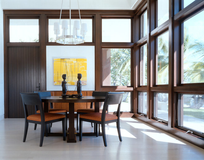 Modern Dining Room by W.A. Bentz Construction, Inc.