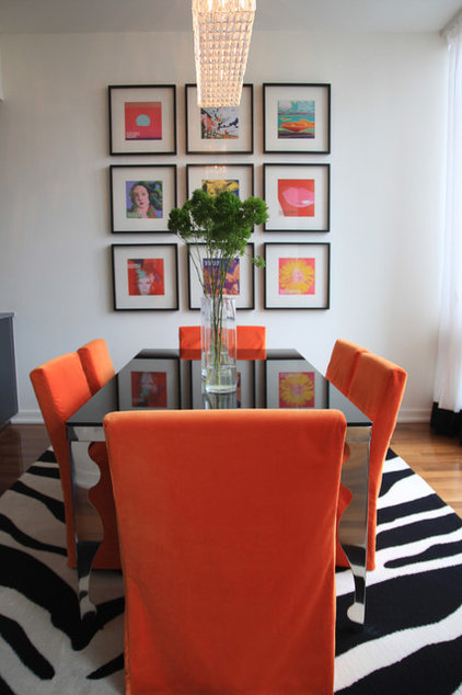 Contemporary Dining Room by Stephanie Sabbe