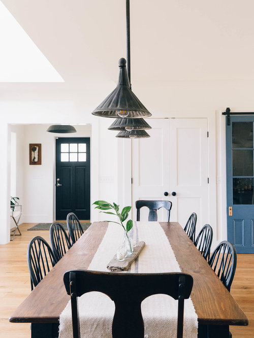 Inspiration For A Large Farmhouse Light Wood Floor And Brown Floor Great  Room Remodel In Other