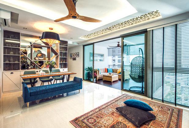 Contemporary Dining Room by Fatema Design Studio
